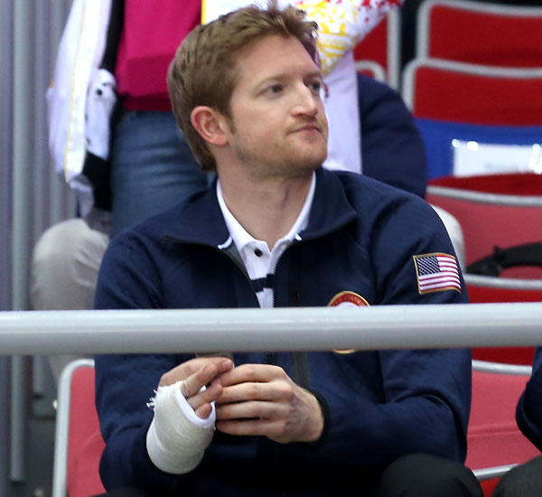 Paul Martin watches Team USA in Sochi. (Getty Images)