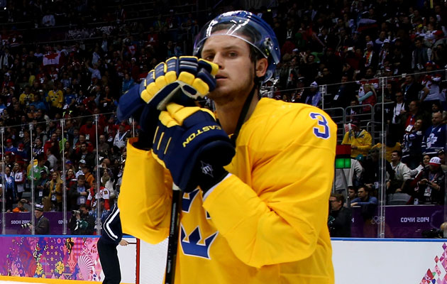 Oliver Ekman-Larsson didn't play much in the medal round for Sweden. (Getty Images)