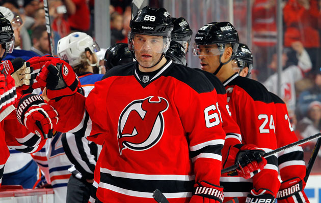 Jaromir Jagr is two celebration lines away from 700. (Getty Images)