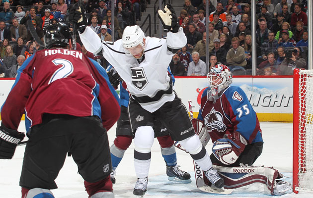Jeff Carter scored in his first game back from Sochi on Wednesday night. (Getty Images)