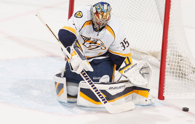 Pekka Rinne has missed more than four months of action. (Getty Images)