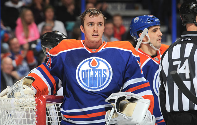 Ben Scrivens joined the Oilers in January. (Getty Images)