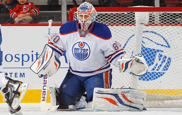 Ilya Bryzgalov has a .908 save percentage this season in Edmonton. (Getty Images)