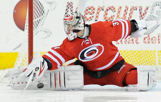 Anton Khudobin was the NHL's first star of January. (Getty Images)