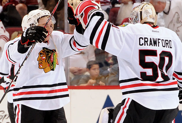 Kane and Crawford are both in the mix for some individual hardware in addition to the Stanley Cup. (Getty Images)