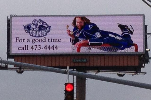 Syracuse Crunch's New, 'racy' Billboard