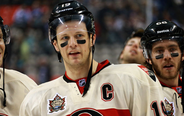 Jason Spezza enlisted the help of his teammates to make a sad situation good. (Getty Images)
