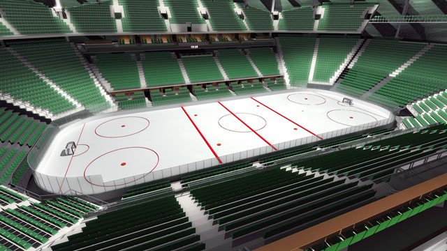 What an NHL rink in Seattle could look like. (SonicsArena.com)