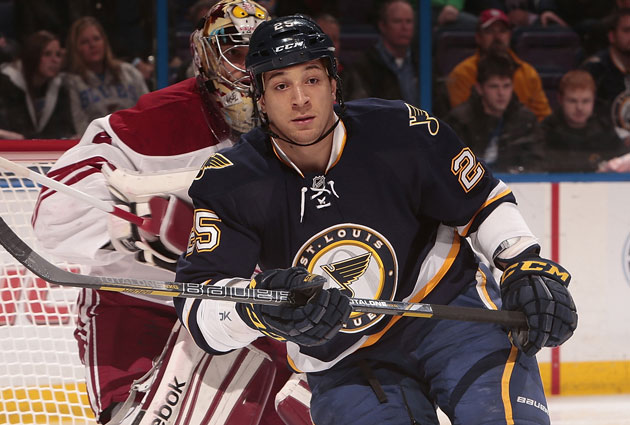 Would the Blues really trade Chris Stewart in the middle of a playoff race? (Getty Images)