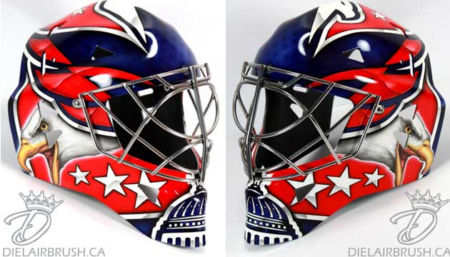 Jaroslav Halak's new symmetrical Caps mask. (Diel Airbrush)