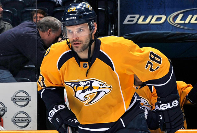Gaustad was acquired by the Preds last deadline. (Getty Images)