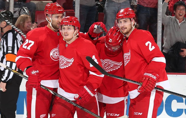 Gustav Nyquist has been leading the Wings toward the postseason. (Getty Images)