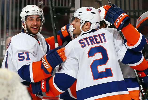 Would the Isles really consider trading both Nielsen (left) and Streit? (Getty Images)