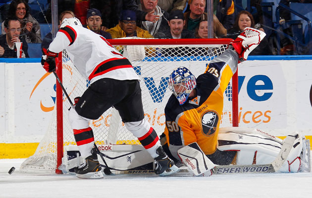 Tuesday's loss to the Sabres dropped the Devils to 0-11 in shootouts this season. (Getty Images)