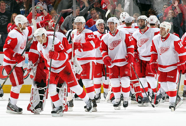 While the Wings can't celebrate a playoff spot yet, they're in great position still. (Getty Images)