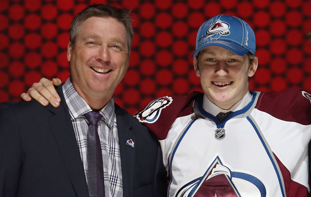 Patrick Roy and Nathan MacKinnon could both take home hardware. (Getty Images)
