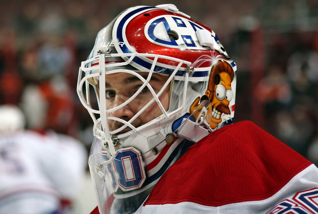 Budaj and his Ned Flanders mask will be sticking around in Montreal longer. (Getty Images)