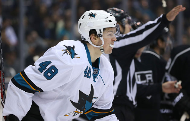 Tomas Hertl could be back for the series vs. LA. (Getty Images)