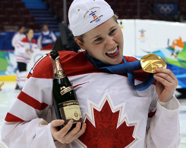 Canada celebrates Gold at the 2010 Olympics. (Getty Images)
