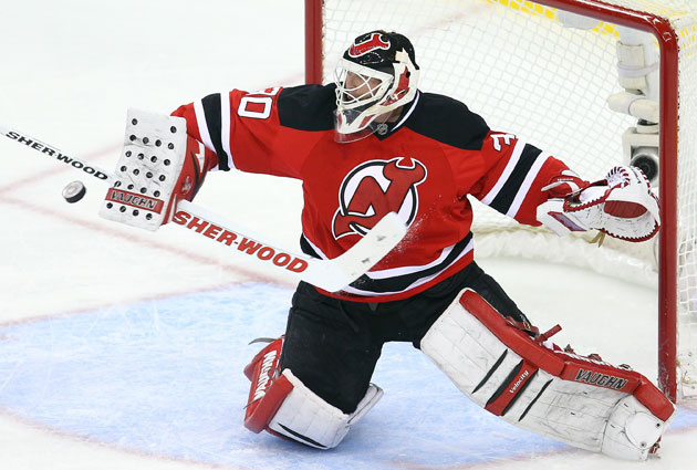 Brodeur gave up two goals on 11 shots Friday against the Sens. (Getty Images)