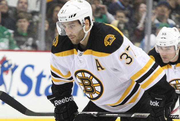 Bergeron has missed the last six games for the B's. (USATSI)