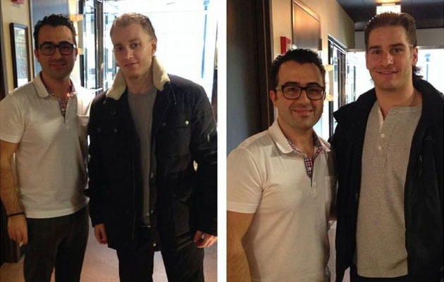 Patrick Kane and Brandon Saad with their new hair cuts. (316 Club/Facebook)