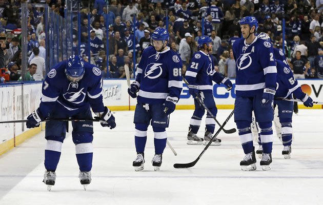 Tampa Bay dropped Game 1 at home in OT, ceding home-ice advantage. (Getty Images)