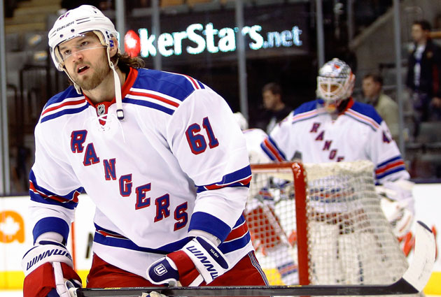 Rick Nash and the Blueshirts still have the upper hand on a playoff spot. (USATSI)