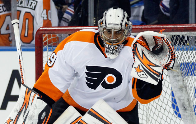 Ray Emery will get the start again in Game 3. (Getty Images)