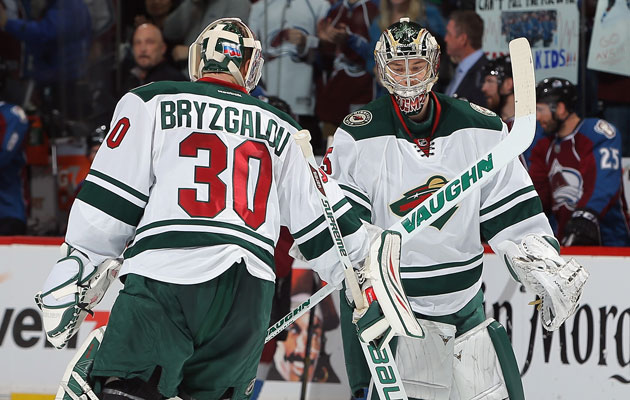 Ilya Bryzgalov is out, Darcy Kuemper in for the Wild. (Getty Images)