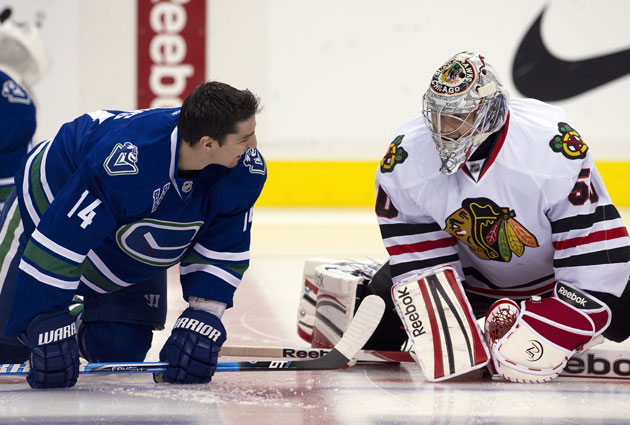 The Hawks and Canucks can each clinch something tonight. (Getty Images)