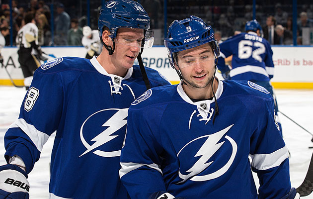 Ondrej Palat and Tyler Johnson are two of three Calder finalists. (Getty Images)