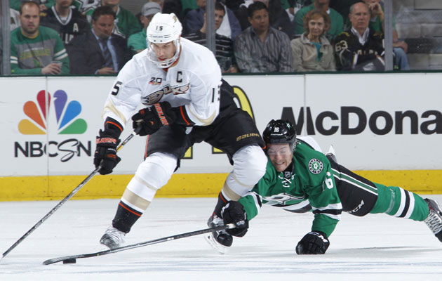 Ryan Getzlaf was a late scratch for Game 4. (Getty Images)