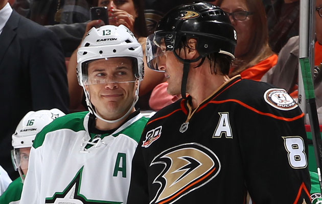 Teemu Selanne won't be joining fellow 40-year-old Ray Whitney on Wednesday. (Getty Images)