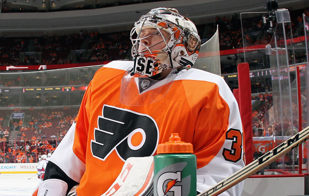 Steve Mason came in for relief duty in Game 3. (Getty Images)
