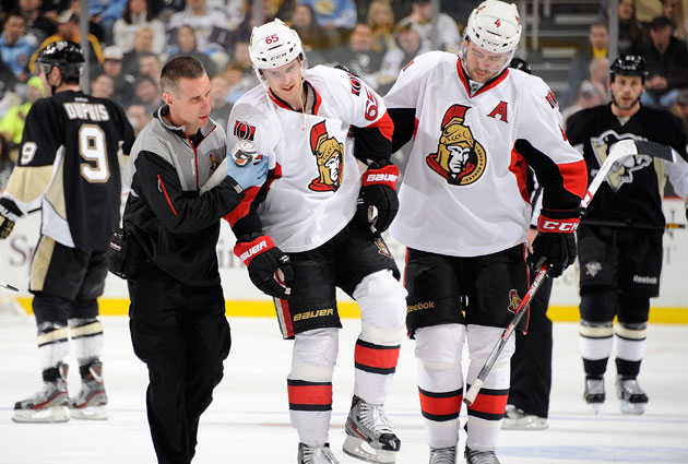 Karlsson had six goals, four assists in 14 before being injured. (Getty Images)