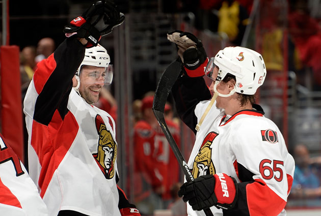 Karlsson had a hand in both Sens goals and played more than 27 minutes. (Getty Images)
