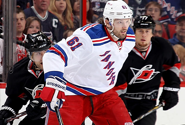 Rick Nash and the Rangers can punch their ticket in vs. Carolina. (Getty Images)