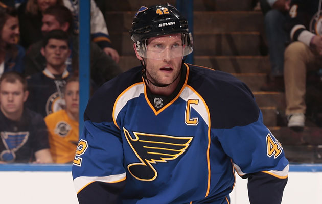 David Backes had 27 goals, 30 assists this season. (Getty Images)