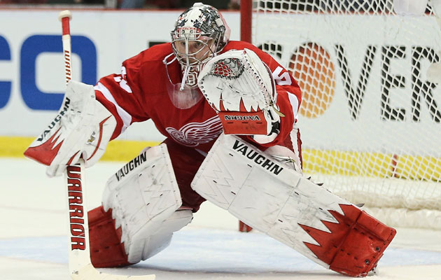 Jimmy Howard will miss a second straight playoff start. (Getty Images)