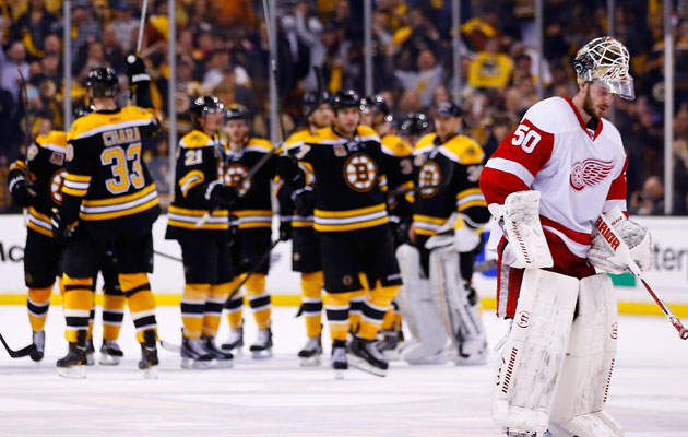 The Bruins are moving on after five games. (Getty Images)