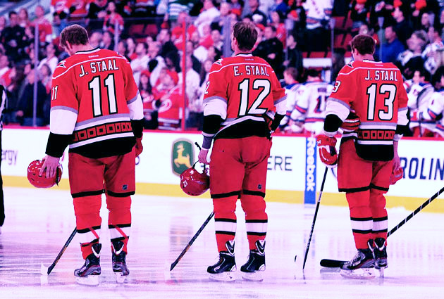 Jordan, Eric and Jared before faceoff on Thursday. (Getty Images)