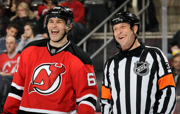 Jaromir Jagr seemed as happy as ever in New Jersey. (Getty Images)