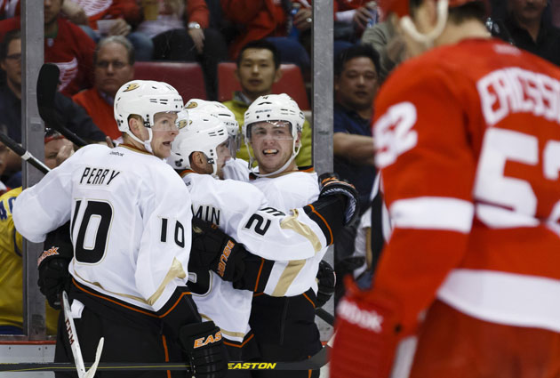 Anaheim came out with a big win in Detroit on Saturday. (USATSI)