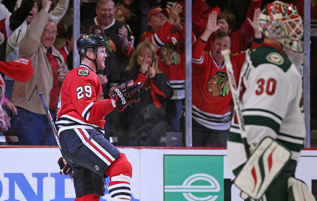 Bryan Bickell has eight points in eight playoff games so far. (Getty Images)
