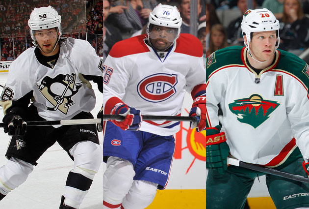 Letang, Subban and Suter are the final three for the Norris. (Getty Images)