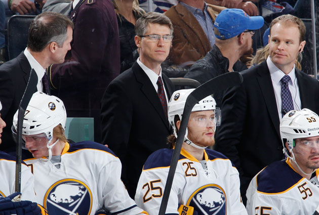Buffalo now turns to Rolston behind the bench. (USATSI)