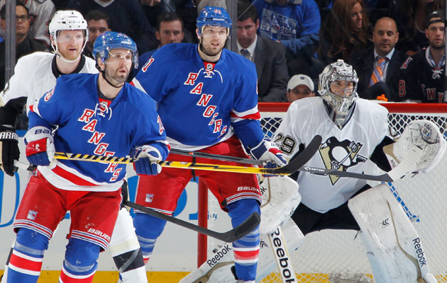 The Rangers have just four goals in four games this round. (Getty Images)