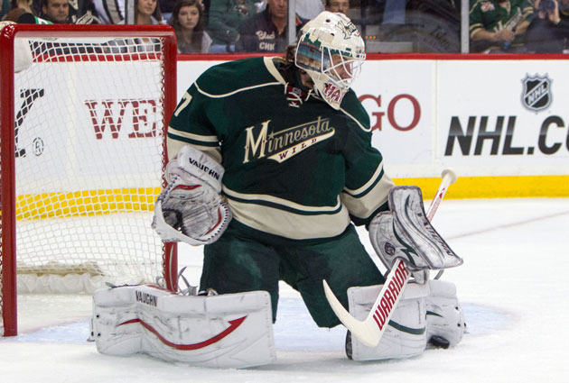 Harding has a .923 save percentage and 2.48 GAA in four starts this series. (USATSI)
