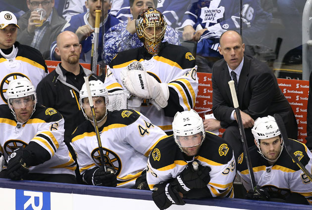 The B's are stuck in Toronto for the night before Monday's Game 7 in Boston. (USATSI)